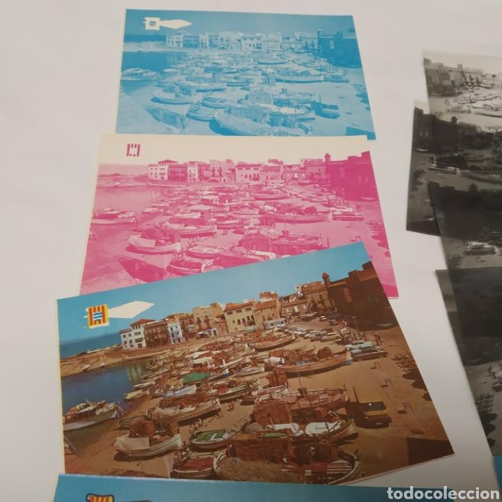 Postales: ¡IRREPETIBLE! La Escala, Playa de Pescadores, Ed. PERGAMINO - Lote clichés imprenta + postal - Foto 9 - 251963995