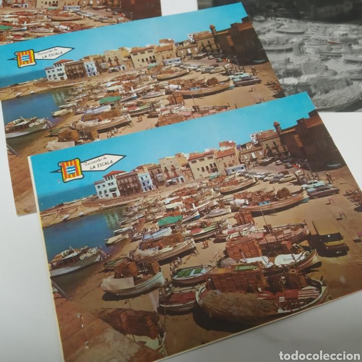 Postales: ¡IRREPETIBLE! La Escala, Playa de Pescadores, Ed. PERGAMINO - Lote clichés imprenta + postal - Foto 10 - 251963995