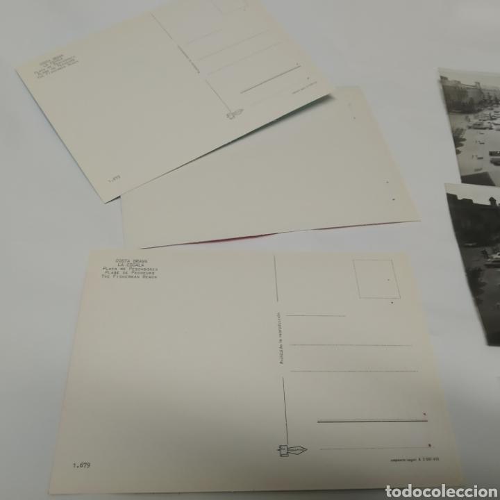 Postales: ¡IRREPETIBLE! La Escala, Playa de Pescadores, Ed. PERGAMINO - Lote clichés imprenta + postal - Foto 11 - 251963995