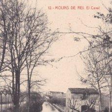 Cartes Postales: BARCELONA, MOLINS DE REY, EL CANAL. ED. J. BASSONS, FOTOTIPIA THOMAS Nº 12. Lote 252554315