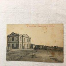 Cartes Postales: TARJETA POSTAL. 10. MOLLERUSA - ESTACIÓN DEL F.C. DE BALAGUER. L. RAISIN FOTÓGRAFO, BARCELONA. 1920. Lote 253005135