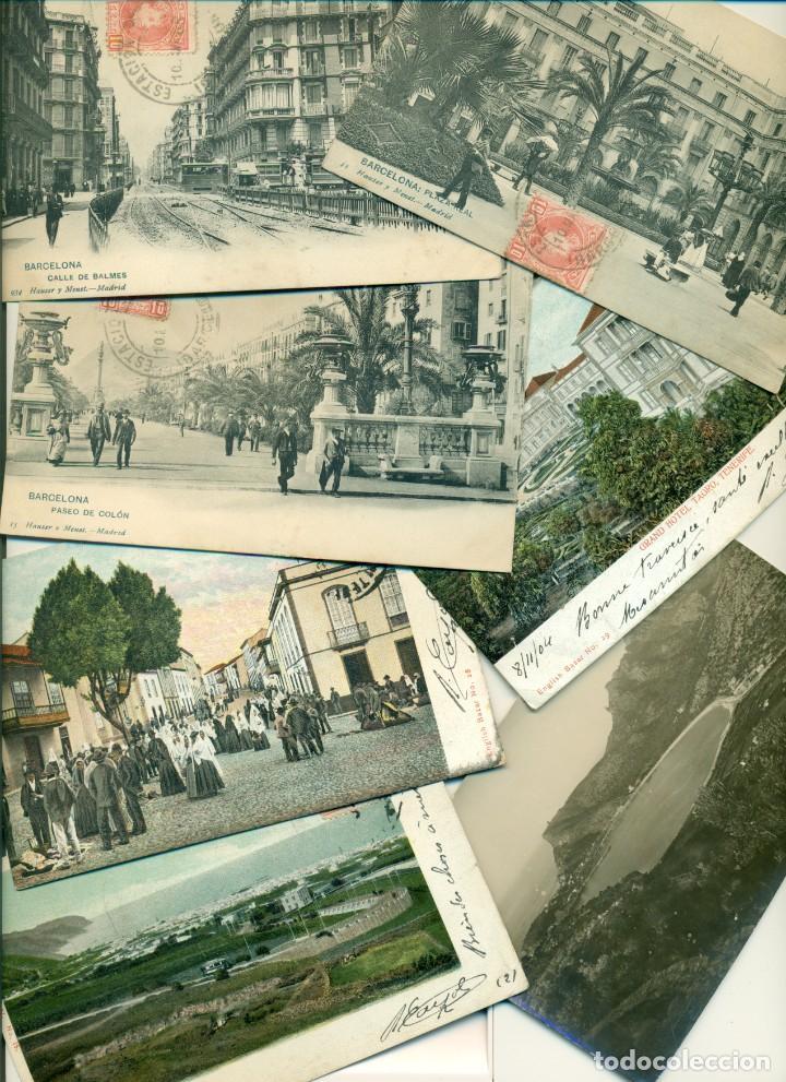 GRAN LOTE 55 POSTALES ESPAÑOLAS. 1905-1920. MUCHAS CIRCULADAS. (Postales - España - Cataluña Antigua (hasta 1939))