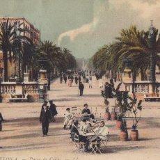 Cartes Postales: BARCELONA, PASEO DE COLON. ED. LL Nº 68. BYN COLOREADA, SIN CIRCULAR. Lote 254049840