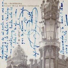 Cartes Postales: BARCELONA, PALAU DE LA MUSICA CATALANA. ED. LB, LUIS BARTRINA Nº 142. FOTOGRAFICA. CIRCULADA EN 1911. Lote 254053910