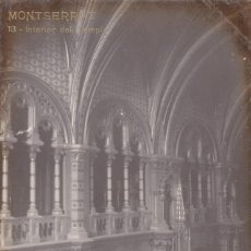 Cartes Postales: BARCELONA, MONTSERRAT, INTERIOR DEL TEMPLO. ED. LB, LUIS BARTRINA Nº 13. FOTOGRAFICA. SIN CIRCULAR. Lote 254058785
