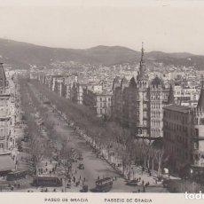 Postales: BARCELONA PASEO DE GRACIA , TRANVIAS POSTAL NO CIRCULADA. Lote 254139735