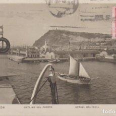 Postales: BARCELONA DETALLE DEL PUERTO BARCOS 1928 POSTAL CIRCULADA. Lote 254140655