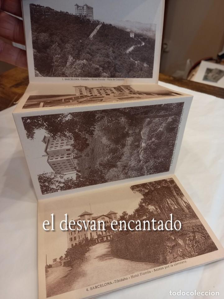 Postales: HOTEL FLORIDA. Tibidabo. Barcelona. Antiguo bloc o acordeón - Foto 2 - 254221185