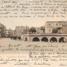 Postales: FIGUERAS - LAVADERO PÚBLICO J. JOANOLA C. EN 1905. Lote 254222385