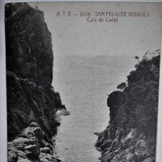 Postales: POSTAL MUY ANTIGUA - S. FELIU DE GUIXOLS - CALA DE CAÑET (A.T.V. 3028) - SIN CIRCULAR. Lote 254282430