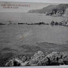 Postales: POSTAL MUY ANTIGUA - S. FELIU DE GUIXOLS - ESCULLS DE CAÑET (A.T.V. 3025) - SIN CIRCULAR. Lote 254282775
