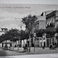 Postales: POSTAL MUY ANTIGUA - S. FELIU DE GUIXOLS - RAMBLA PI Y MARGALL (H, BARROSO) - SIN CIRCULAR. Lote 254454805