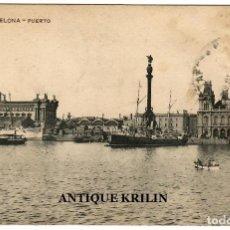 Postales: BARCELONA Nº 104 PUERTO / EDICION MISSÉ HERMANOS / CIRCULADA 1911. Lote 254495695