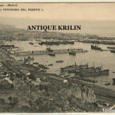 Postales: BARCELONA Nº 1733 PANORAMA DEL PUERTO / EDICION HAUSER MENET / CIRCULADA 1906. Lote 254503450