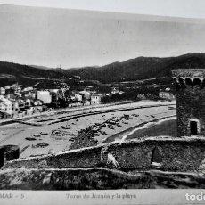 Postales: POSTAL FOTOGRAFICA ANTIGUA -TOSSA DE MAR - TORRE DE JOANAS Y LA PLAYA (ED. GARRIGA ) SIN CIRCULAR. Lote 254630725