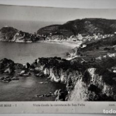 Postales: POSTAL FOTOGRAFICA ANTIGUA -TOSSA DE MAR - VISTA DESDE SAN FELIU (ED. GARRIGA ) SIN CIRCULAR. Lote 254631725