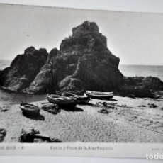 Postales: POSTAL FOTOGRAFICA ANTIGUA -TOSSA DE MAR - PLAYA DE LA MAR PEQUEÑA (ED. GARRIGA ) SIN CIRCULAR. Lote 254632885