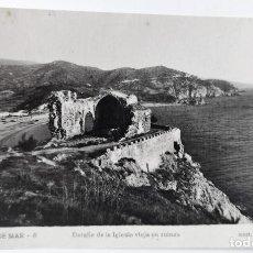 Postales: POSTAL FOTOGRAFICA ANTIGUA -TOSSA DE MAR - DETALLE IGLESIA EN RUINAS (ED. GARRIGA ) SIN CIRCULAR. Lote 254633875