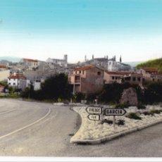 Postales: TARRAGONA, GARCIA DE EBRO, VISTA PARCIAL. ED. LABORATORIO FOTOGRAFICO ZARAGOZA. BYN COLOREADA. Lote 255001055