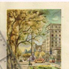 Postales: 1971 (ANT.) POSTAL BARCELONA - PASEO DE GRACIA (MONUMENTO DE LA VICTORIA) CON TRANVÍA Y TROLEBÚS. Lote 255943275