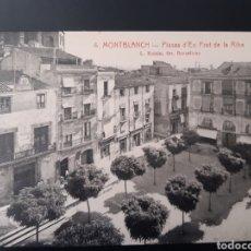 Postales: POSTAL DE. MONTBLANC. TARRAGONA. PLAZA PRAT DE LA RIBA.. Lote 255945020