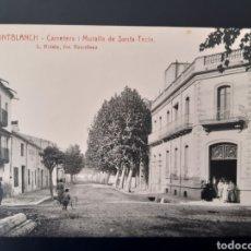 Postales: POSTAL DE. MONTBLANC. TARRAGONA. CARRETERA Y MURALLA DE SANTA TECLA.. Lote 255945760