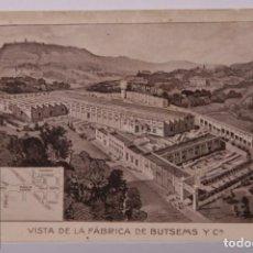Postales: ANTIGUA POSTAL PUBLICITARIA FABRICA BUTSEMS BARCELONA - SANTS MONTJUIC - EMPRESA CONSTRUCCIÓN. Lote 255991170