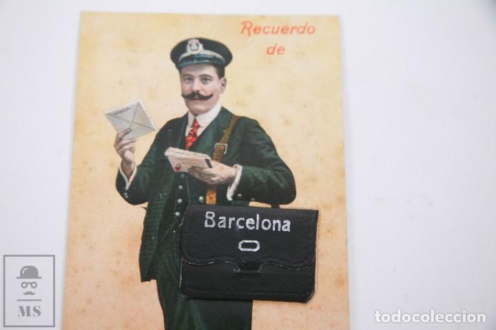 Postales: Antigua Postal Recuerdos de Barcelona - Sin Circular - Cartero 10 Vistas Desplegables - Foto 3 - 255993430