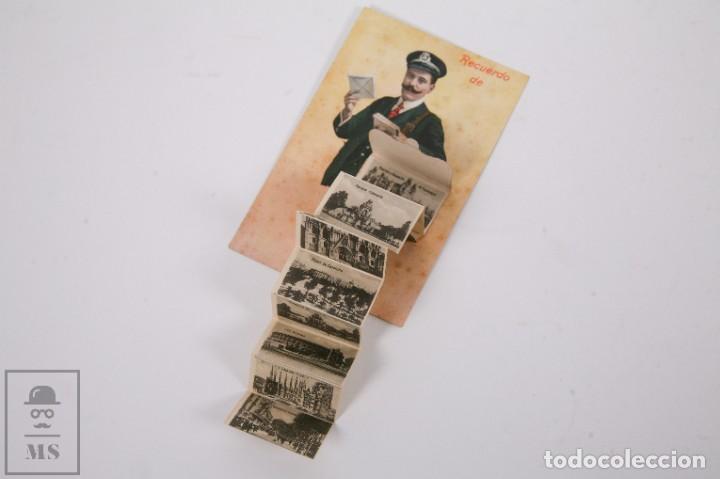 Postales: Antigua Postal Recuerdos de Barcelona - Sin Circular - Cartero 10 Vistas Desplegables - Foto 4 - 255993430
