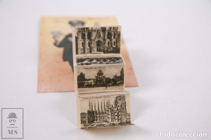 Postales: Antigua Postal Recuerdos de Barcelona - Sin Circular - Cartero 10 Vistas Desplegables - Foto 5 - 255993430