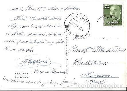 Postales: ANTIGUA POSTAL TARADELL LAS FUENTES FOTO ANTONELL 1964 - Foto 2 - 256017310