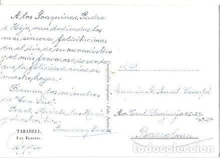 Postales: ANTIGUA POSTAL TARADELL LAS FUENTES FOTO ANTONELL - Foto 2 - 256017480