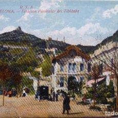 Postales: P-12684. BARCELONA. ESTACIÓN FUNICULAR DEL TIBIDABO. POSTAL R.S.A. COLOREADA. NO CIRCULADA.. Lote 256082510