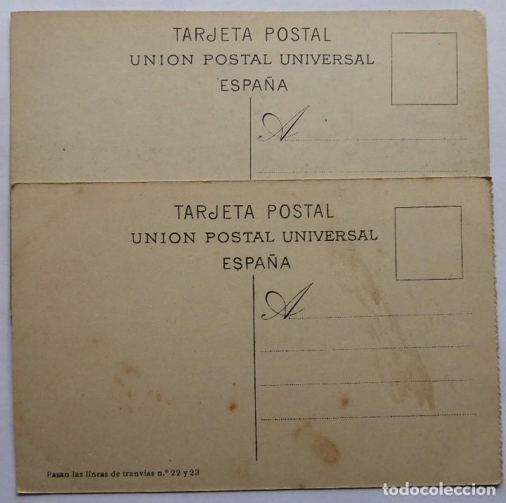 Postales: P-12685. BARCELONA. 2 POSTALES ANTIGUAS: FUNICULAR TIBIDABO / ADUANA Y MONTJUICH. NO CIRCULAD - Foto 4 - 256082655