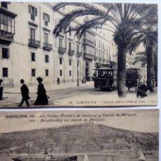 Postales: P-12686. BARCELONA. 2 POSTALES ANTIGUAS: LOS VIVEROS Y MONTJUICH / CAPITANIA GENERAL. NO CIRCULADAS.. Lote 256082840