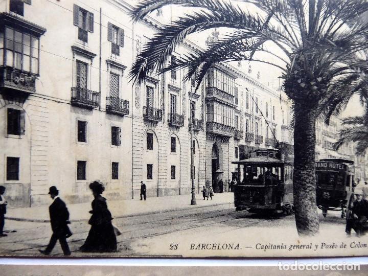 Postales: P-12686. BARCELONA. 2 POSTALES ANTIGUAS: LOS VIVEROS Y MONTJUICH / CAPITANIA GENERAL. NO CIRCULADAS. - Foto 2 - 256082840