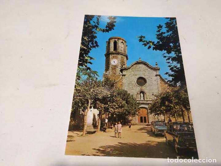 MARESME - POSTAL MALGRAT - DETALLE DE LA FACHADA DE LA IGLESIA (Postales - España - Cataluña Moderna (desde 1940))