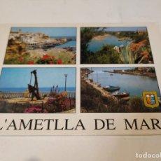 Postales: BAIX EBRE - POSTAL L'AMETLLA DE MAR - L'ESTANY - PORT - PLAÇA JOAN MIRÓ. Lote 260974930