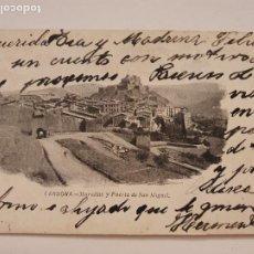 Postales: CARDONA - MURALLES I PORTA DE SANT MIQUEL / MURALLAS Y PUERTA DE SAN MIGUEL - P50653. Lote 261144405