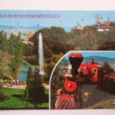 Postales: BARCELONA - PARQUE DE ATRACCIONES DE MONTJUIC - P50988. Lote 261586125