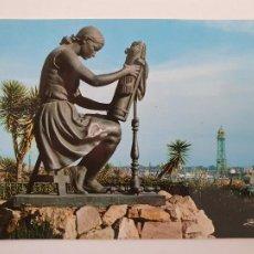 Postales: BARCELONA - MONTJUIC - MONUMENT A LA FILADORA - MONUMENTO A LA HILANDERA - P50990. Lote 261586545