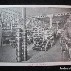 Postales: BARCELONA-S.RULL-ALMACENES AL POR MAYOR BATERIA DE COCINA-SECCION DE VENTAS-POSTAL ANTIGUA-(80.335). Lote 261613050
