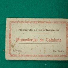 Postales: MONASTERIOS DE CATALUÑA. RECUERDO DE LOS PRINCIPALES. BLOC CON 10 POSTALES.FOT. GUILERA.. Lote 261694005