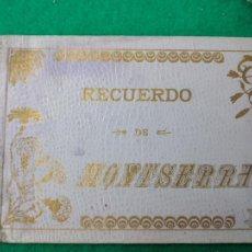 Postales: RECUERDO DE MONTSERRAT NUEVO ALBUM DE 32 VISTAS DE LA HISTORICA MONTAÑA. IMP. VIÑALS HNOS. MANRESA.. Lote 261697240