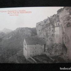 Postales: SANT PERE DE MONTGRONY-IGLESIA-HOSTATGERIA Y ESCALAS-POSTAL ANTIGUA-(80.369). Lote 261855480