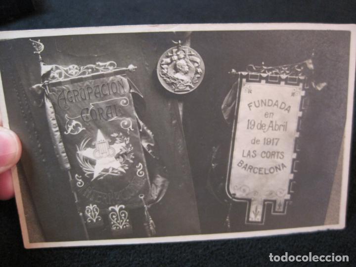 CATALUNYA-AGRUPACION CORAL INTERNACIONAL-FUNDADA EN LAS CORTS-FOTOGRAFICA-POSTAL ANTIGUA-(80.390) (Postales - España - Cataluña Antigua (hasta 1939))