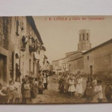 Postales: LINYOLA - CARRER DEL CEMENTIRI / CALLE DEL CEMENTERIO - P51126. Lote 262400925