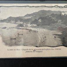 Postales: TARJETA POSTAL DE LLORET DE MAR ( PLAYA ST.A CRISTINA) COSTA BRAVA - GERONA. Lote 262476925
