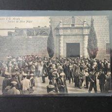 Postales: TARJETA POSTAL DE MONESTIR D' EL MIRACLE (SURTINT DE MISA MAJOR). Lote 262477440