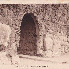 Postales: TARRAGONA MURALLA DEL ROSARIO. ED. TAU, HUECOGRABADO MUMBRU Nº 28. SIN CIRCULAR. Lote 262619655